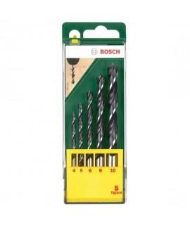 Set 5 burghie pentru lemn BOSCH
