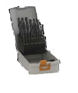 Caseta burghie metal Pro Box, HSS-R, 1-10mm, 19 bucati Hawera