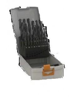 Caseta burghie metal Pro Box, HSS-Tin, 1-10mm, 19 bucati Hawera