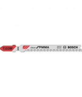 Set 5 panze pentru ferastrau vertical T 102 BF 'clean for PMMA' BOSCH