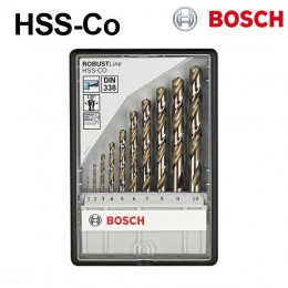 2607019925 Set 10 buc. burghie pentru metal Robust  Line HSS-Co BOSCH