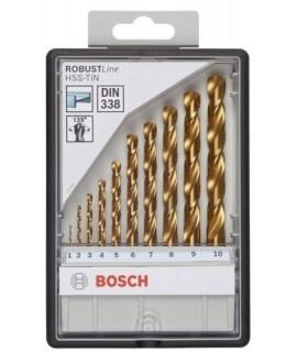 2607010536 Set 10 buc. burghie pentru metal HSS-TiN BOSCH