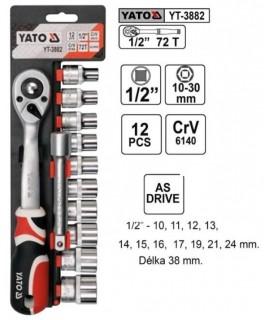 "YT-3882 Trusa chei tubulare cu antrenor 1/2"" Yato"